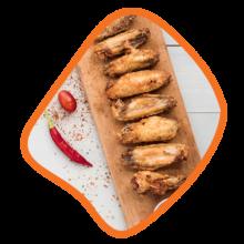 بال مکزیکی مرغ زی خوراک