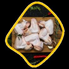 بال و بازو ساده مرغ زی خوراک
