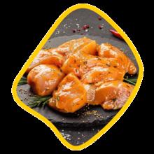 جوجه ران زعفرانی مرغ زی خوراک