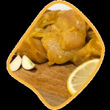 جوجه ران سیر و کره زی خوراک