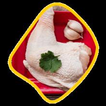 ران کامل با پوست مرغ زی خوراک