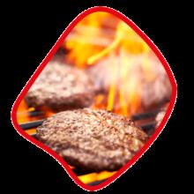 ذغالی برگر ۴۵۰ گرمی زی خوراک