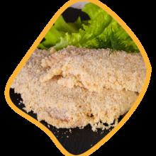 شنیسل ران مرغ با آرد زی خوراک