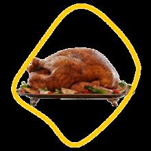 مرغ شکم پر زعفرانی زی خوراک