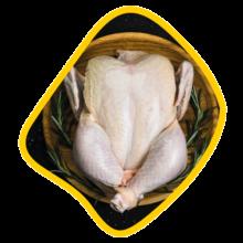 مرغ کامل جلدی زی خوراک