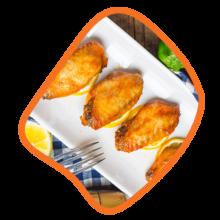 بال زعفرانی مرغ زی خوراک